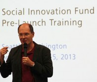 Jurgen Unutzer at the Social Innovation Project training