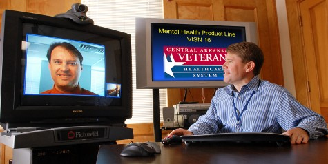 John Fortney, PhD demonstrates the interactive video used in Telemedicine-Based Collaborative Care.