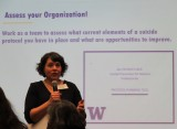 "Anna Ratzliff giving a presentation called ""Assess your Organization"""